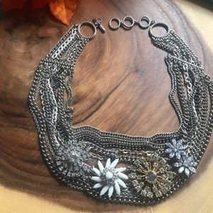 Stella & Dot Multi Layered Chain Floral Choker